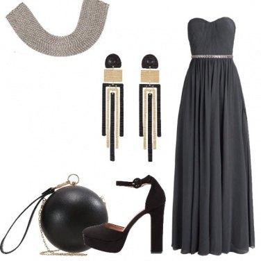 Outfit Bella in grigio e nero