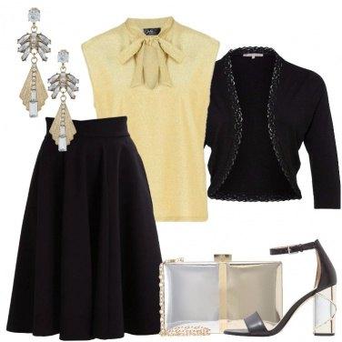 Outfit La gonna a campana nera