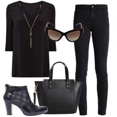 Outfit Nero dorato