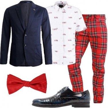 Outfit Quadri e papillon