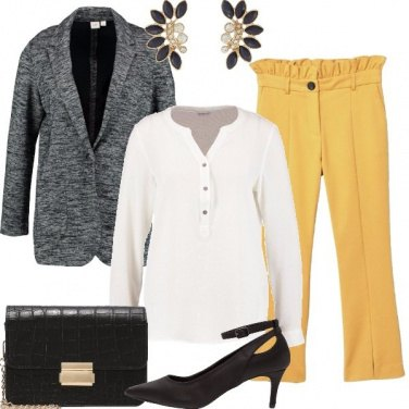 Outfit Mostarda e nero