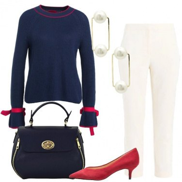 Outfit Il maglione blu