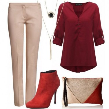 Outfit Tronchetto rosso