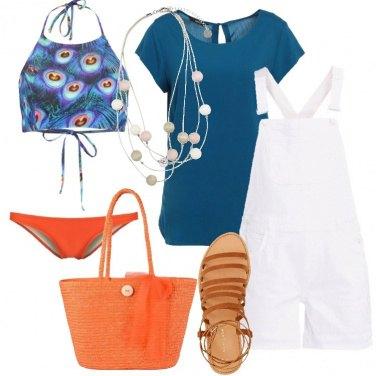 Outfit La salopette bianca