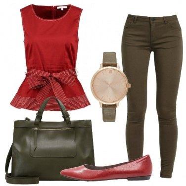 Outfit Con la ballerina rossa
