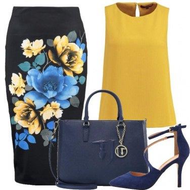 Outfit I fiori sulla gonna