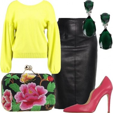 Outfit Colori ed ecopelle