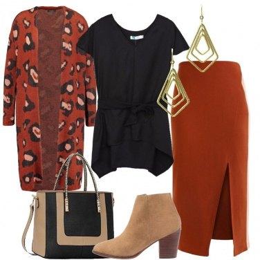 Outfit Ruggine e nero