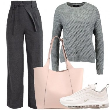 Outfit Il maglione grigio