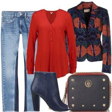 Outfit Jeans e tronchetto open toe