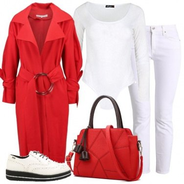Outfit Rosso trench