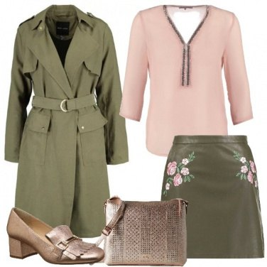 Outfit Trench in ufficio