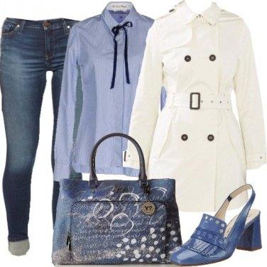 Outfit Trench bianco per il giorno