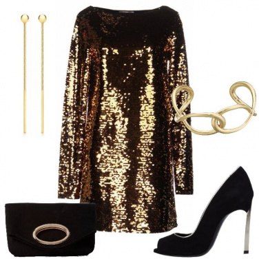Outfit Paillettes oro