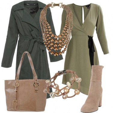 Outfit Un trench verde