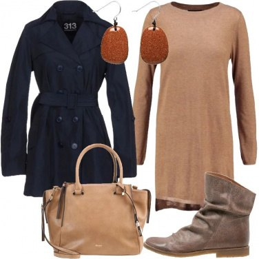 Outfit Trench e stivaletti