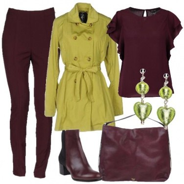 Outfit Il trench Golden Lime