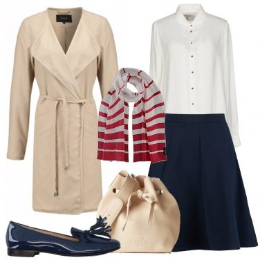 Outfit Trench in beige