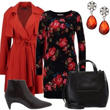 Outfit Trench rosso