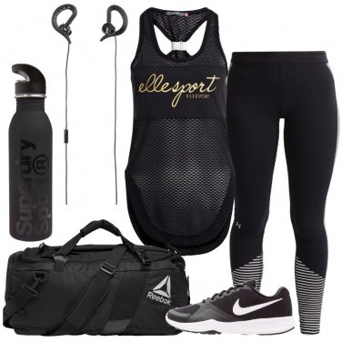 Outfit Fitness in nero