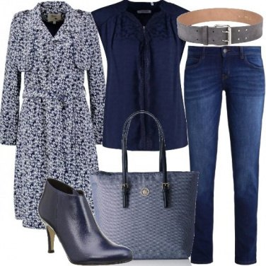 Outfit Trench a fantasia floreale