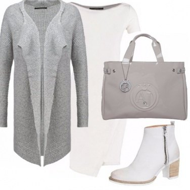 Outfit Minimal white and grey