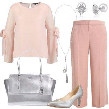 Outfit Rosa e argento
