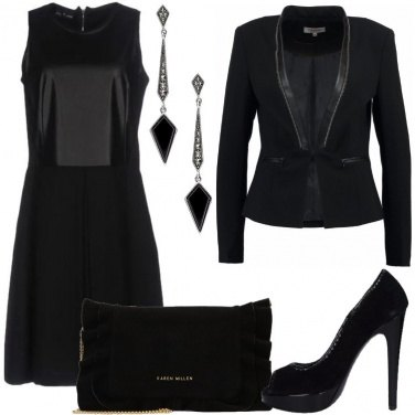 Outfit Total black con open toe