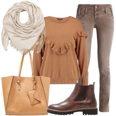 Outfit Nei toni del marrone