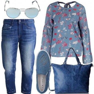 Outfit Comoda in blu