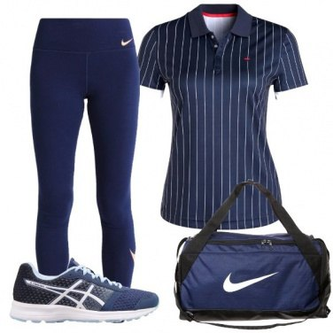 Outfit In palestra in blu