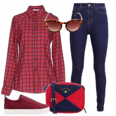 Outfit Rosso d\'annata