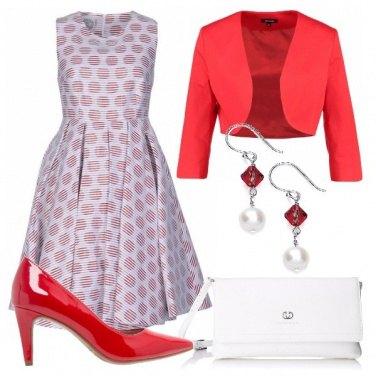 Outfit Cerimonia in rosso e bianco