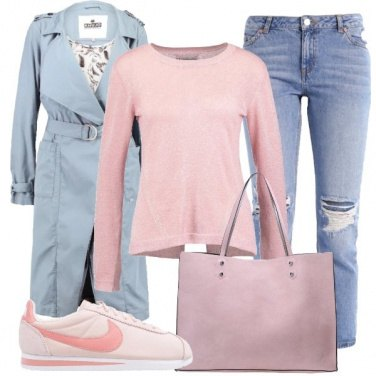Outfit Trench e colori chiari