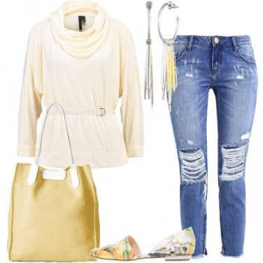 Outfit Crema e limone