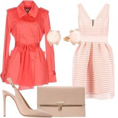 Outfit Trench corallo