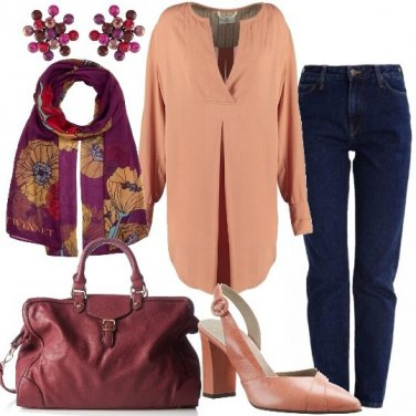 Outfit Blusa e jeans