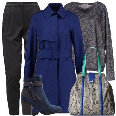 Outfit Blu e grigio