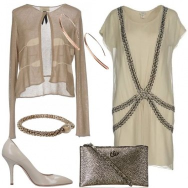 Outfit Beige e bronzo