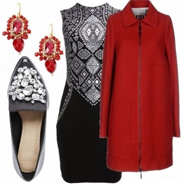 Outfit Bianco, rosso & nero