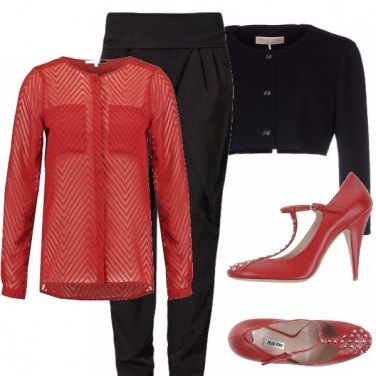 Outfit Classico rosso e nero!