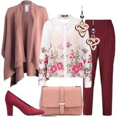 Outfit La mantella rosa