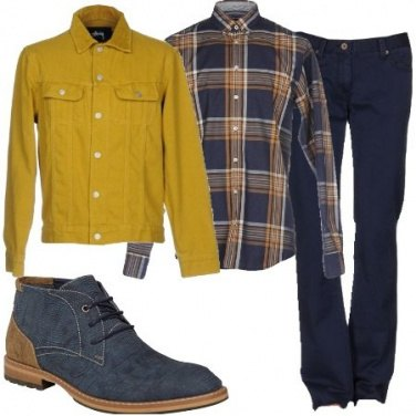 Outfit Giacca di jeans colorata