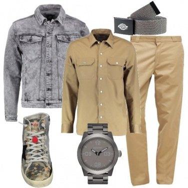 Grigio e beige: outfit uomo Casual per tutti i giorni e ufficio | Bantoa