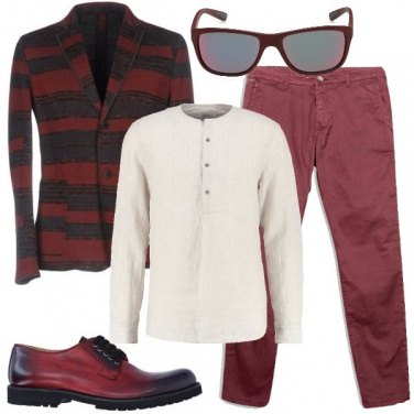 Outfit Vagamente hipster in bordeaux