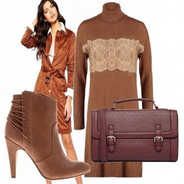 Outfit Camoscio, lana e pizzo!