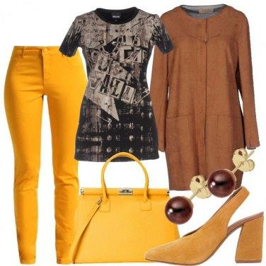 Outfit Senape e caffè