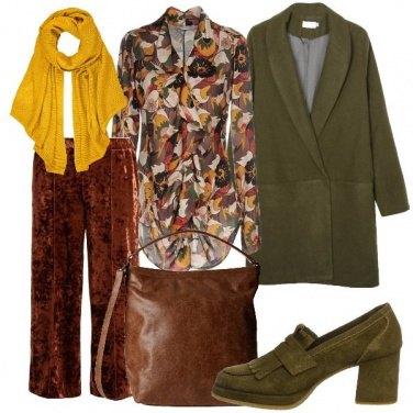 Outfit La stola gialla