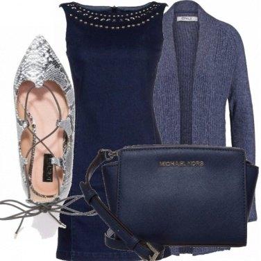 Outfit Vestito di jeans in inverno