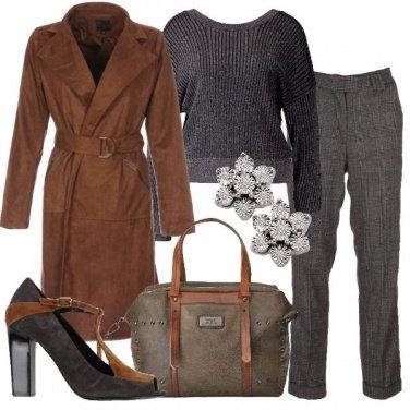 Outfit Il cappotto marrone